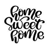 Kaligraficzny wycena domu cukierki dom Ręki literowania typografii plakat Dla parapetówa plakatów, kartka z pozdrowieniami, dom ilustracji
