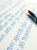 kaligrafii handwriting styl obraz stock