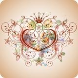 kaligrafii kwiecisty kierowy ornamentu rocznik Zdjęcie Royalty Free