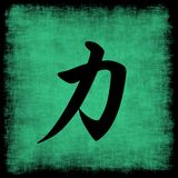 kaligrafii siła chińska ustalona Fotografia Royalty Free