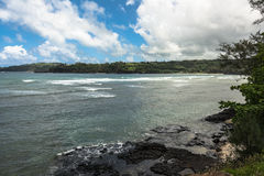 Kalihiwai海岸,考艾岛,夏威夷 免版税库存照片