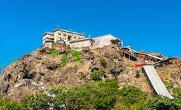 Kalika Mata Temple alla sommità della collina di Pavagadh - Gujarat, India Fotografie Stock Libere da Diritti