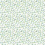 Kalikoaquarelltulpen-Blaumuster Lizenzfreie Stockbilder