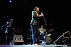 Kalil Wilson et Ignasi Terraza Trio (bande) exécute chez Auditori Photo stock