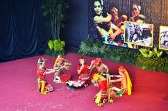 Kalimantan Dancing. Tari Kalimantan dipamerkan di TMII Royalty Free Stock Image