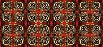 Kalimantan ornament. Pattern design etnich style of Kalimantan - Indonesia Stock Images