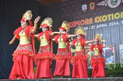 Kalimantan taniec Zdjęcie Royalty Free