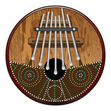 Kalimba 7 note Royalty Free Stock Photo