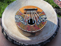Kalimba africano tradizionale dello strumento musicale Fotografia Stock Libera da Diritti