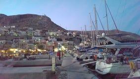 Kalimnos hamn Arkivbilder