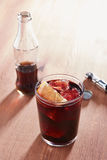 Kalimotxo wine and cola mixture glass Stock Photos
