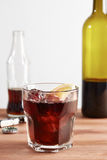 Kalimotxo wine and cola mixture glass Royalty Free Stock Photo