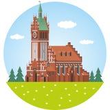 Kaliningrad Órgão filarmônico Salão ilustração do vetor