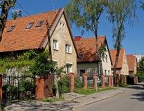 Kaliningrad, Ρωσία Παλαιά γερμανικά σπίτια στην οδό Roditelev Στοκ φωτογραφία με δικαίωμα ελεύθερης χρήσης