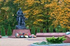 Kaliningrad, Ρωσία, στις 17 Οκτωβρίου 2017, στρατιώτης-ανιχνεύσεις `, πάρκο μνημείο-μνημείων ` νίκης στοκ εικόνες με δικαίωμα ελεύθερης χρήσης