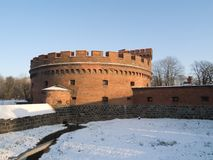 Kaliningrad. Winter view of Der Dona tower in Kaliningrad/Russia royalty free stock image
