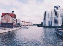 Kaliningrad, aldeia piscatória foto de stock royalty free