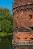 Kaliningrad amber Museum. The museum is located in a historic building (defensive tower Don), restored after the war, and is part of the former inner rampart Royalty Free Stock Images