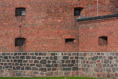 Kaliningrad amber Museum. The museum is located in a historic building (defensive tower Don), restored after the war, and is part of the former inner rampart Royalty Free Stock Image