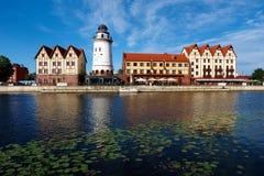 Kaliningrad Bulwar wioska rybacka Fotografia Stock