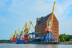 Kaliningrad, the building is an old grain Elevator in trading po Stock Images