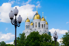 Kaliningrad. The Cathedral of Christ the Savior in Kaliningrad in Victory square Stock Photo