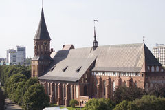 Kaliningrad cathedral. Kaliningrad the Cathedral on Kant`s island Royalty Free Stock Photos