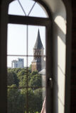 Kaliningrad cathedral. Kaliningrad a cathedral through a window Stock Photo