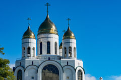 Kaliningrad, Christian Cathedral en Victory Square Image stock