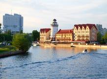 Kaliningrad. Embankment of the Fishing Village Stock Image