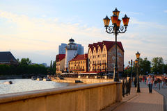 Kaliningrad. Embankment of the Fishing Village Royalty Free Stock Photos
