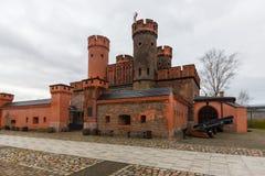 Kaliningrad, Fédération de Russie - 4 janvier 2018 : Le musée de porte de Friedrichsburg images libres de droits