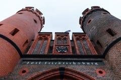 Kaliningrad, Federação Russa - 4 de janeiro de 2018: O museu da porta de Friedrichsburg imagens de stock