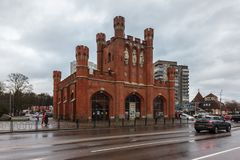 Kaliningrad, federacja rosyjska - Styczeń 4, 2018: Królewskie bramy obraz stock