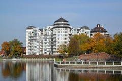 Kaliningrad. Housing estate at the lake Stock Image