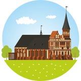 Kaliningrad Kathedraal royalty-vrije illustratie