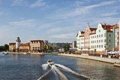Kaliningrad. Koenigsberg. Alte Stadtrekonstruktion Lizenzfreie Stockfotos