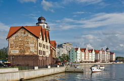 Kaliningrad. Koenigsberg. Old city reconstruction Royalty Free Stock Image
