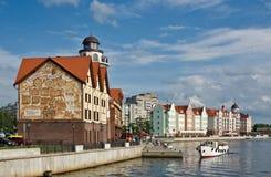 Kaliningrad. Koenigsberg. Vecchia ricostruzione della città Immagine Stock Libera da Diritti