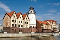 Kaliningrad. Koenigsberg. Vecchia ricostruzione della città Fotografia Stock