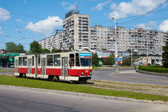 Kaliningrad miasta tramwaj Obrazy Stock