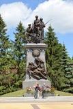 Kaliningrad Monumentet till ryssen tjäna som soldat vem var borttappade i dagar av världskrig I Royaltyfri Fotografi