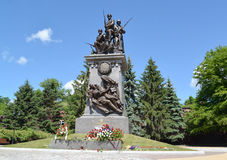 Kaliningrad Monumento aos soldados do russo que caíram dentro Imagem de Stock Royalty Free