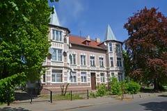 Kaliningrad. Old German house on Tchaikovsky Street Royalty Free Stock Image