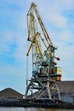 Kaliningrad, port crane Stock Photos