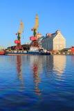 Kaliningrad port in the solar summer evening Stock Photography
