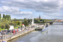 Kaliningrad. Quay of the Pregolya River Royalty Free Stock Image