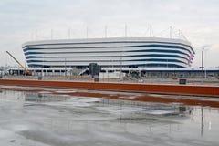 Kaliningrad, Rússia Estádio Báltico da arena para guardar jogos do campeonato do mundo de FIFA de 2018 no dia de inverno foto de stock royalty free