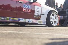Kaliningrad 2018 race car rear view on pavement6. Kaliningrad 2018 race car rear view on pavement stock image
