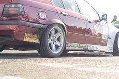 Kaliningrad 2018 race car rear view on pavement5. Kaliningrad 2018 race car rear view on pavement royalty free stock photos